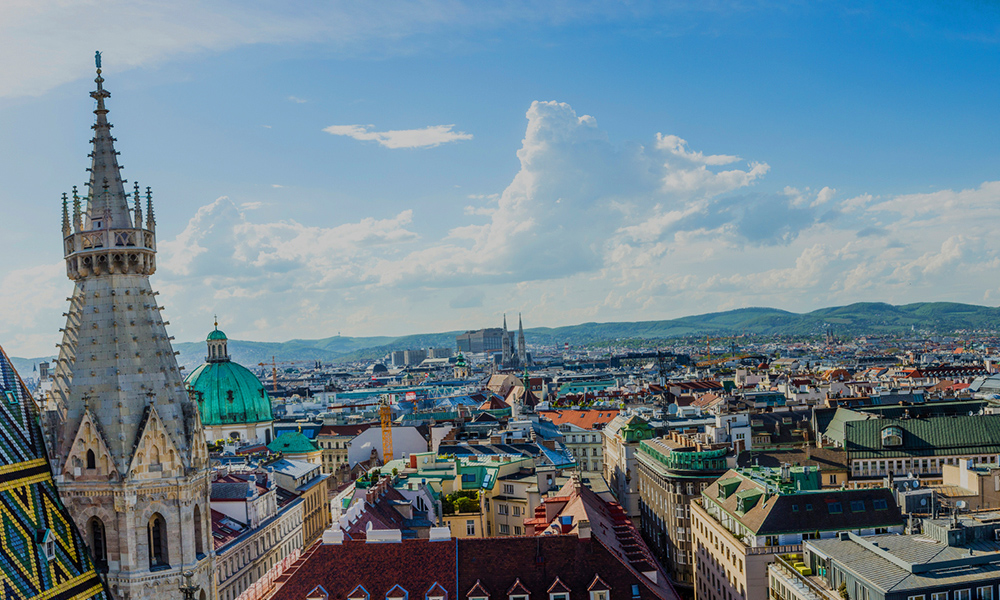 Vienna City Skyline