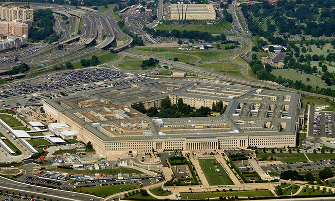 Ariel view of the Pentagon in Washington DC