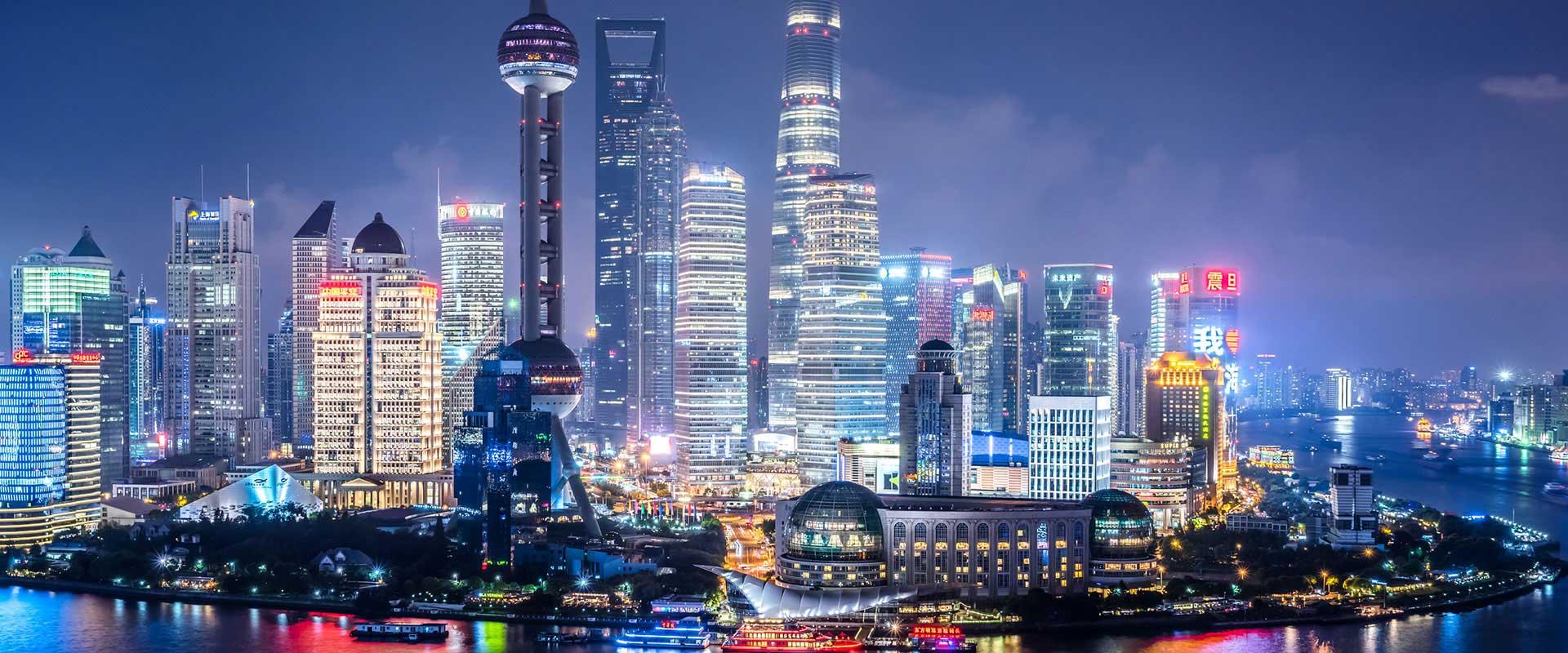 上海天际线夜景