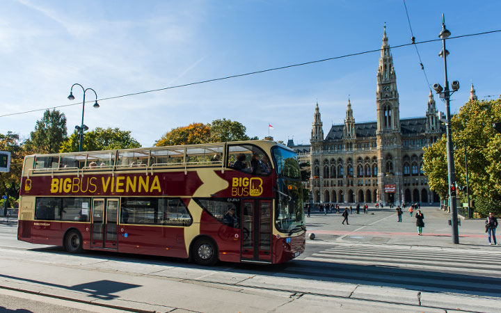 Passenger boarding Big Bus Tours Vienna