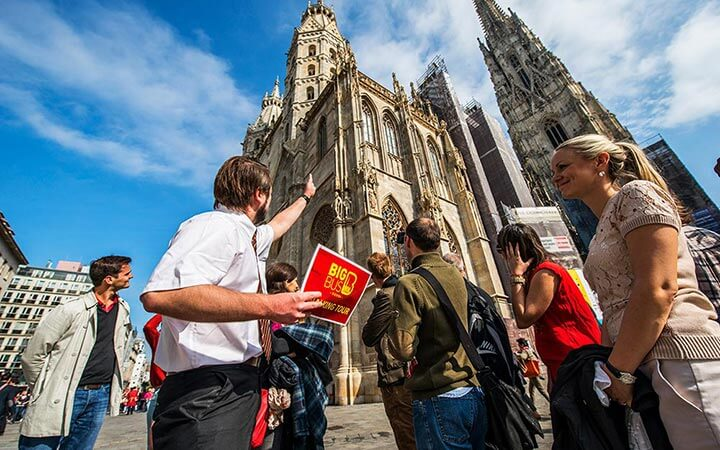 A Big Bus Tours walking tour at St. Stephen's Cathdral