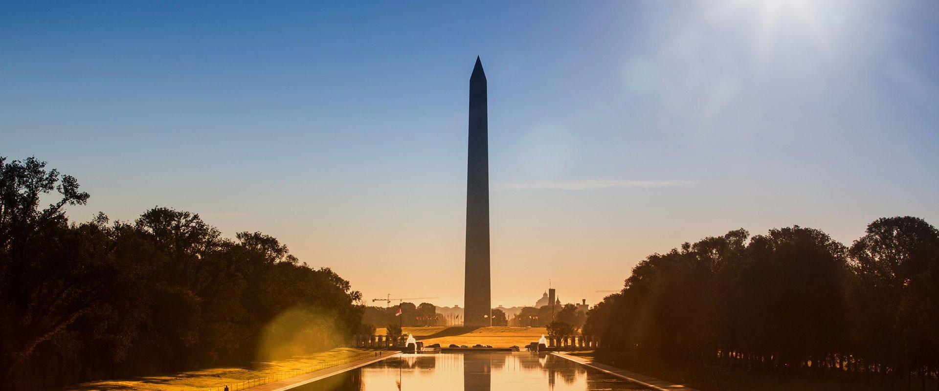 Washington Monument at sunset