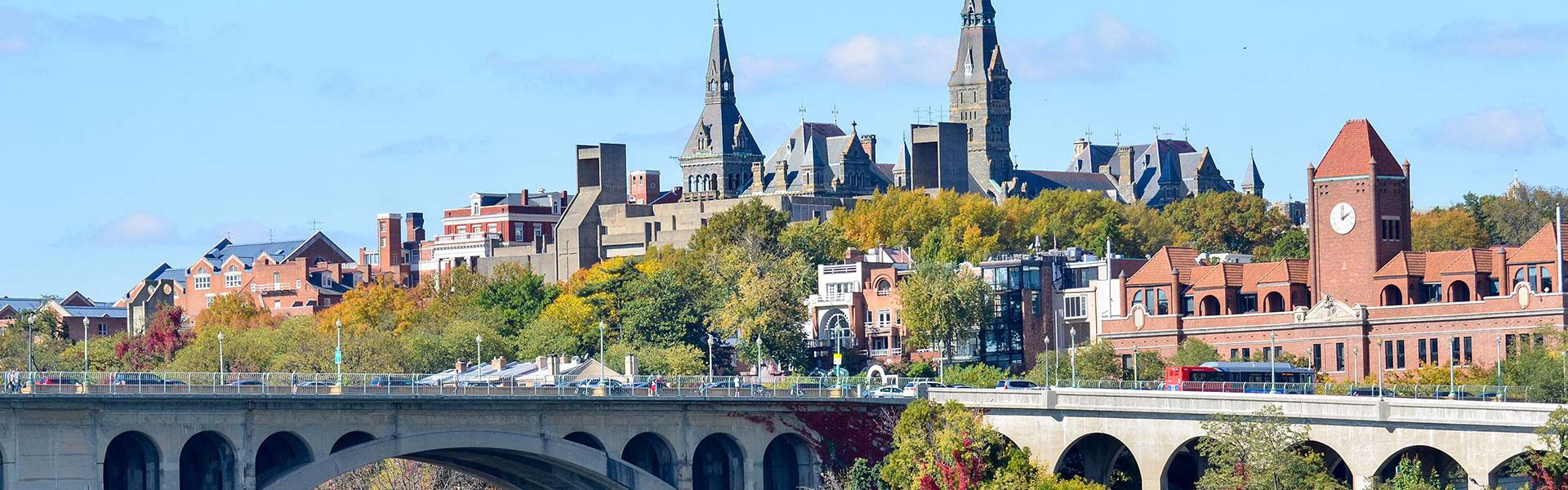 View of Georgetown in Washington DC