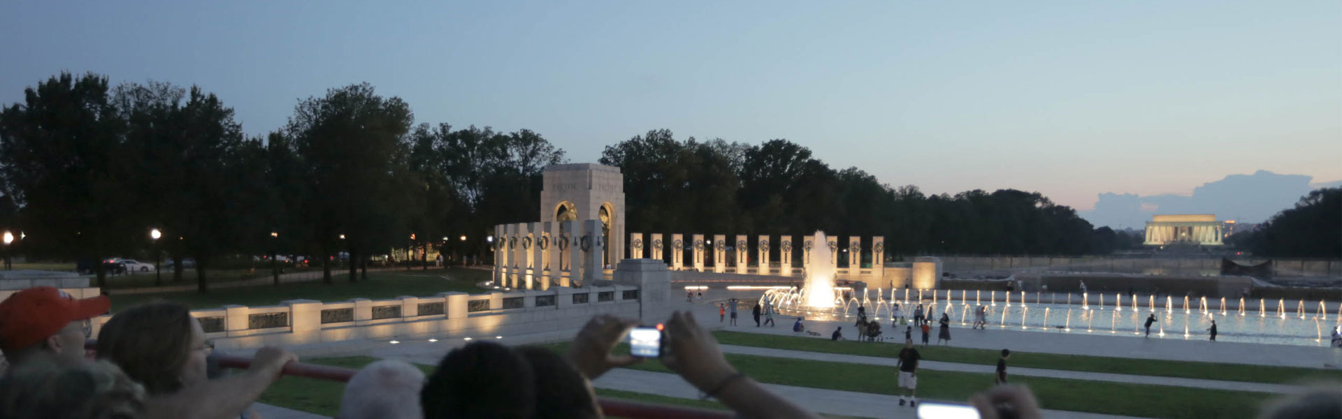 Arlington Memorial in Washington DC at dusk