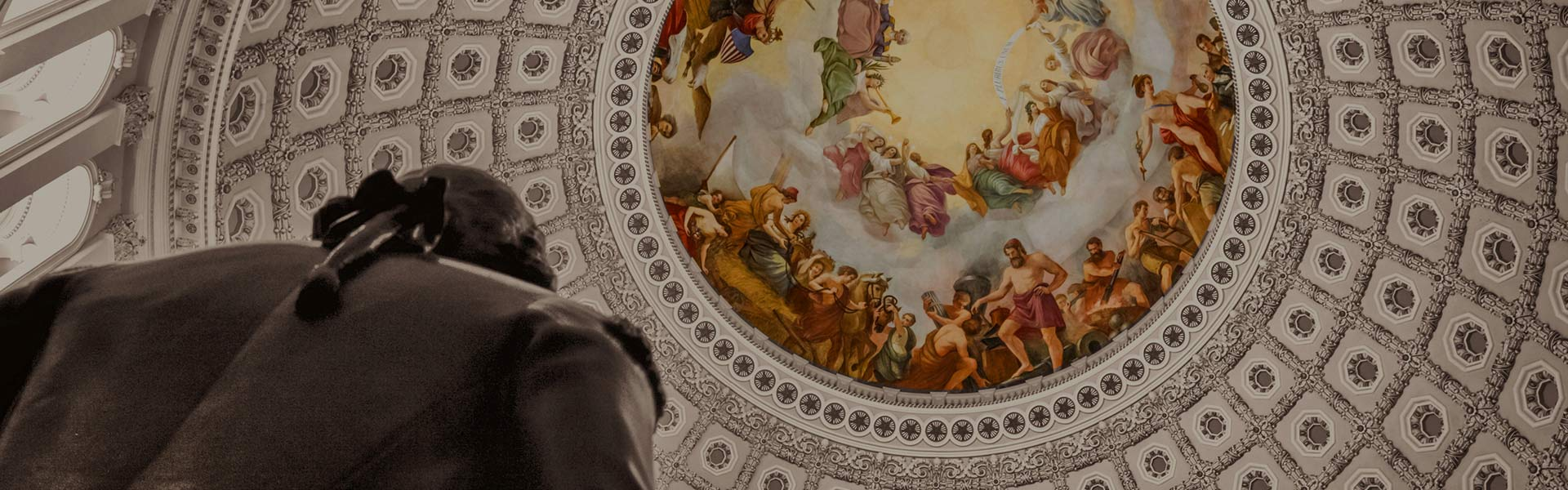 Mural on the ceiling of the Jefferson Memorial dome